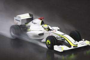 Jenson Button driving the Brawn GP BGP01 at Malaysia.