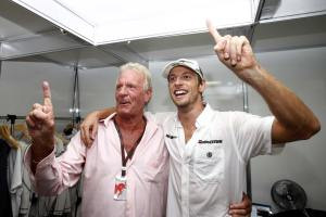 Jenson and his dad John.