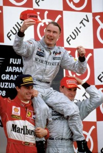 Mika Hakkinen won the 1998 Formula 1 World Drivers Championship in the year that Avi started to watch F1.