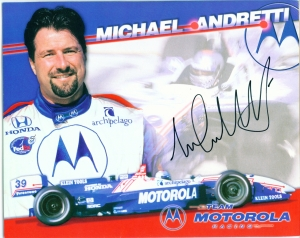 Michael Andretti's Hero Card signed by the man himself.