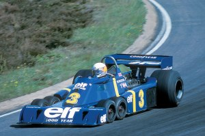 Jody Schekter driving the Tyrell P34.
