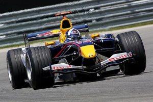David Coulthard at the 2005 US GP at Indianapolis.