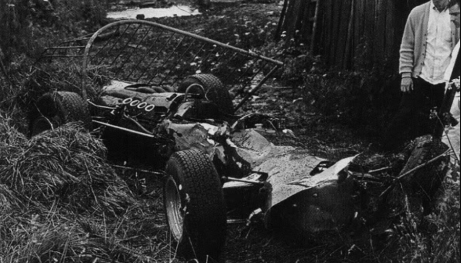Jackie Stewart 1966 Spa Crash