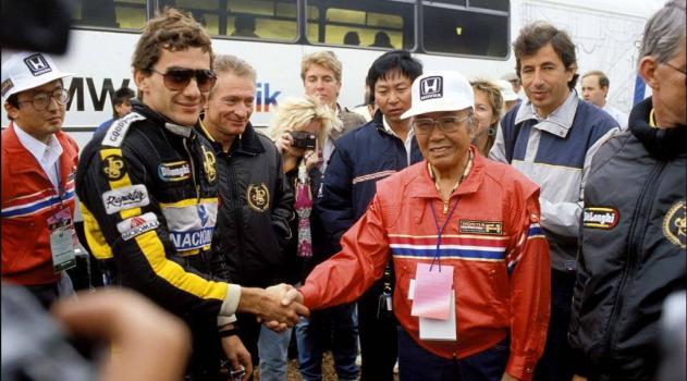 Ayrton Senna y Soichiro Honda