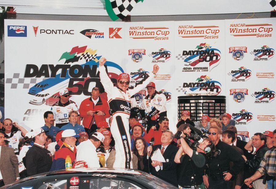 Dale Earnhardt en Victory Lane