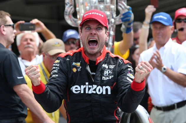 Will Power's face 2018 Indy 500