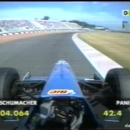 OnBoard de Oliver Panis durante las prácticas del GP de Argentina de ese año en la misma zona del circuito. Imágenes gentileza de Formula One Management.