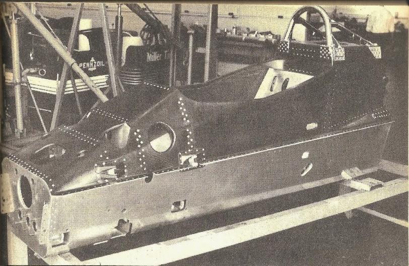 Old IndyCar tub